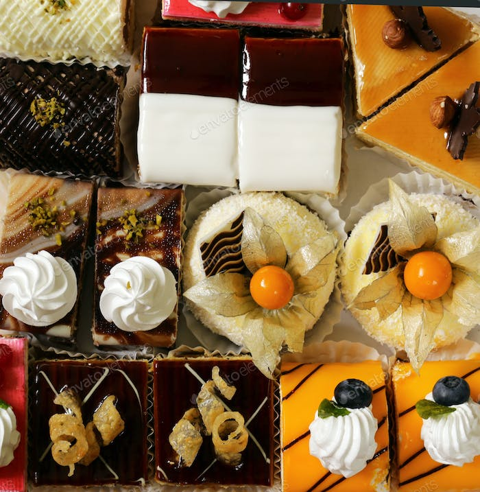 Assorted Different Mini Cakes