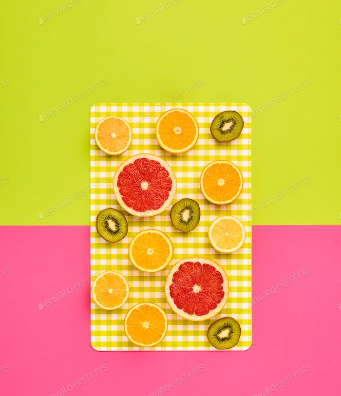 Fashion Summer Tropical fruit. Minimal Art Design