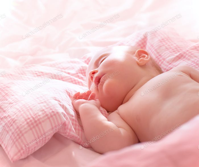 Cute little sleeping baby