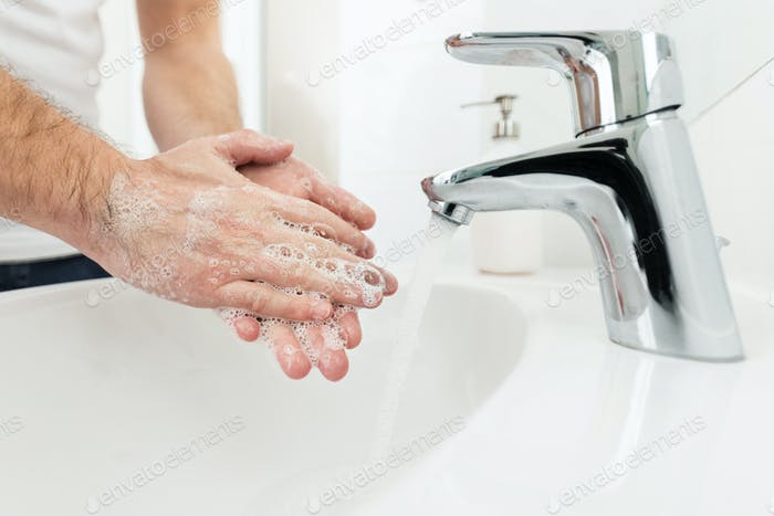 Washing hands as a prevetion against bacteria and viruses