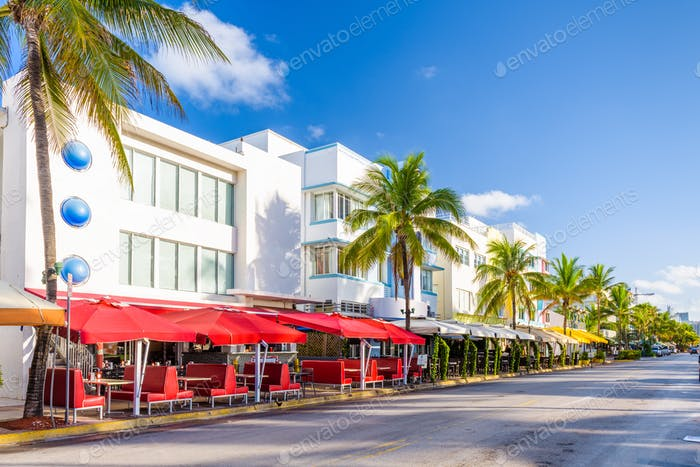 Miami Beach, Florida, USA cityscape on Ocean Drive