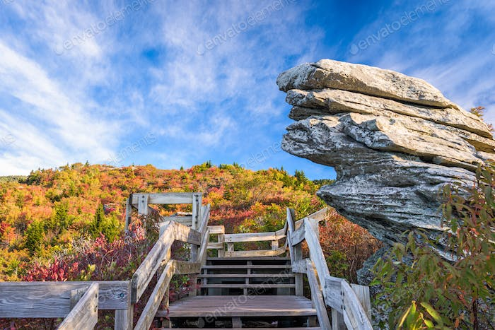 Grandfather Mountain, North Carolina, USA.
