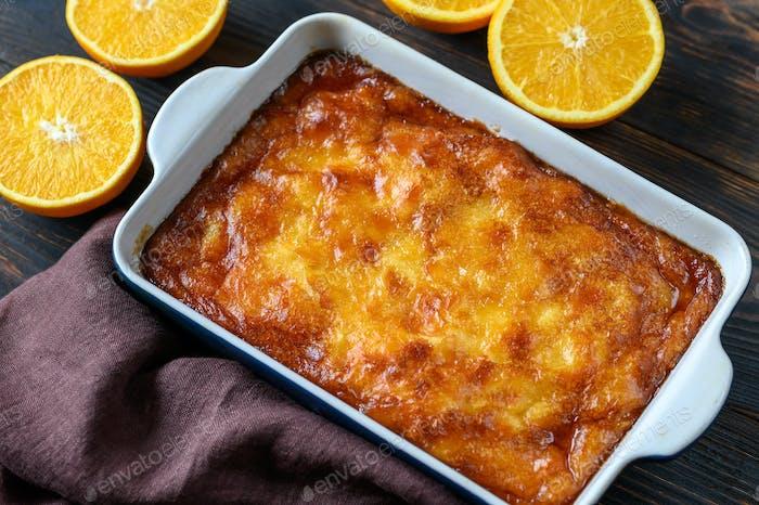 Portokalopita orange cake