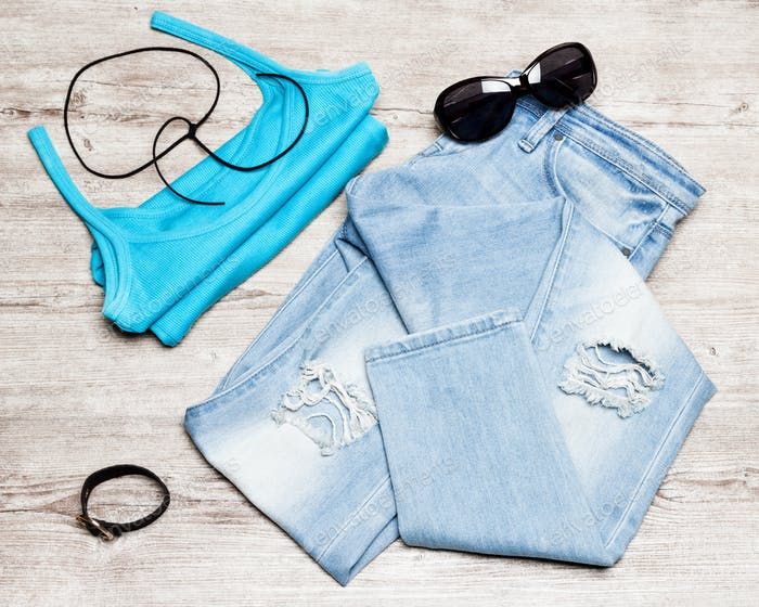 Casual style women summer outfit