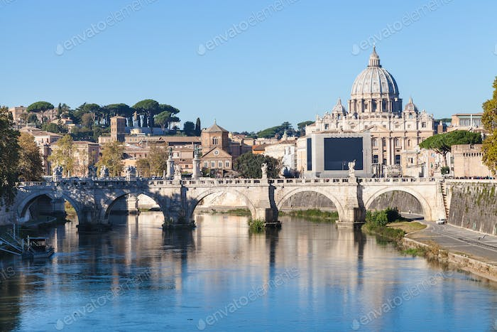 Rome and Vatican city skyline