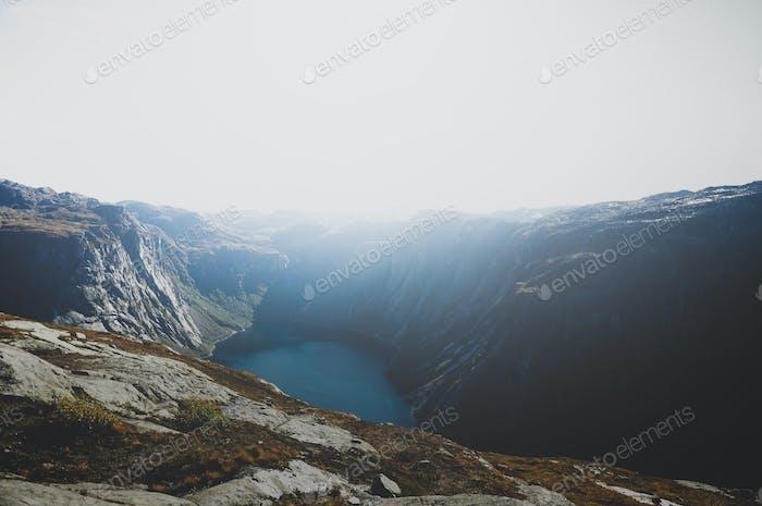 Breathtaking view of scandinavian national park