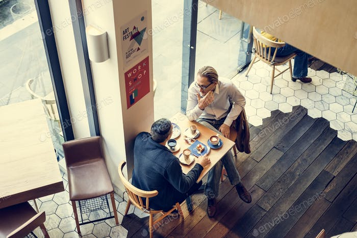 Coffee Shop Talking Leisure Lifestyle Relaxation Concept