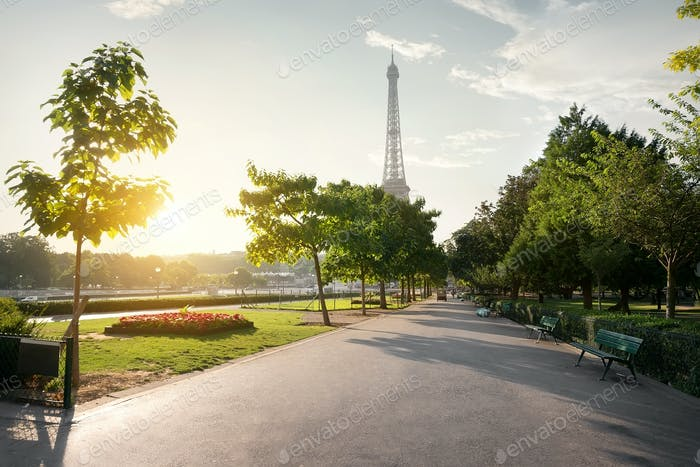 Calm morning in Paris