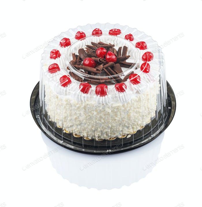 cake with cherries and chocolate