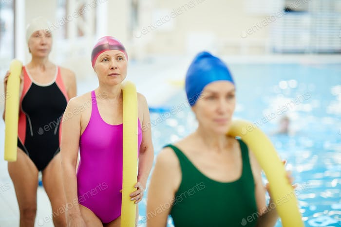 Senior Women by Pool