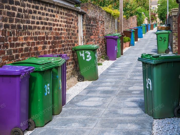 British Alleyway Bins