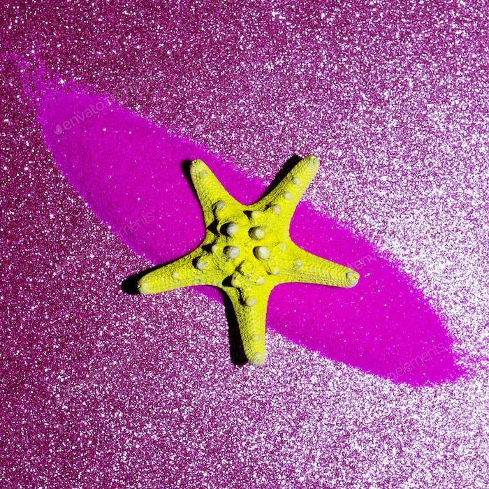 Starfish and shine. Minimal art