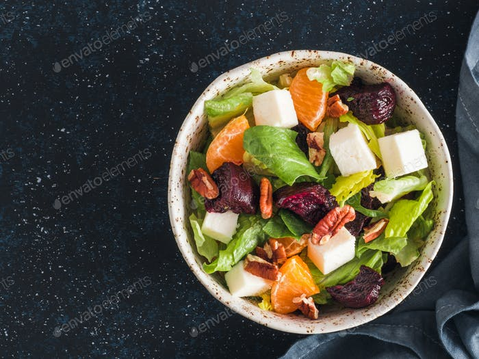 Beetroot, Feta Cheese and Orange Salad