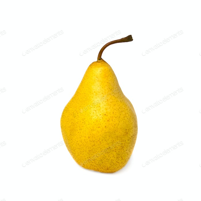Yellow pear. Isolated on white background.