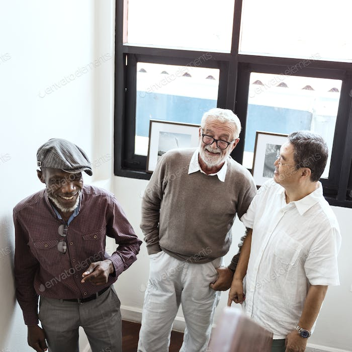 Group Of Senior Retirement Discussion Concept