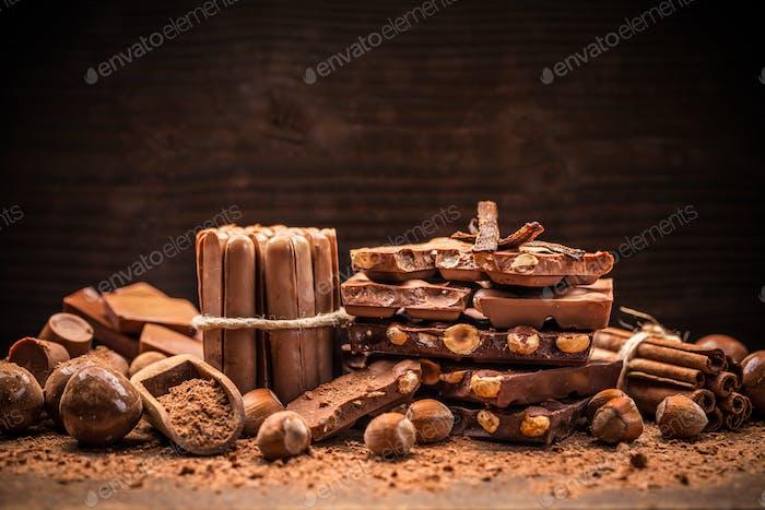 Sweet milk chocolate