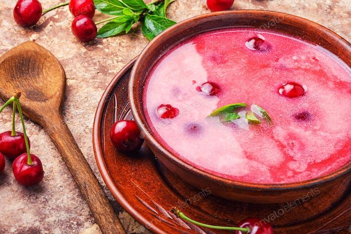 Cool cherry soup