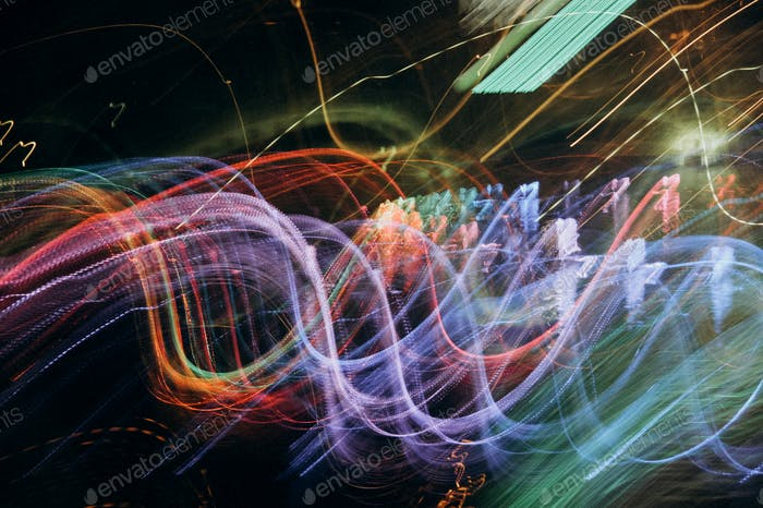 abstract colored light wave