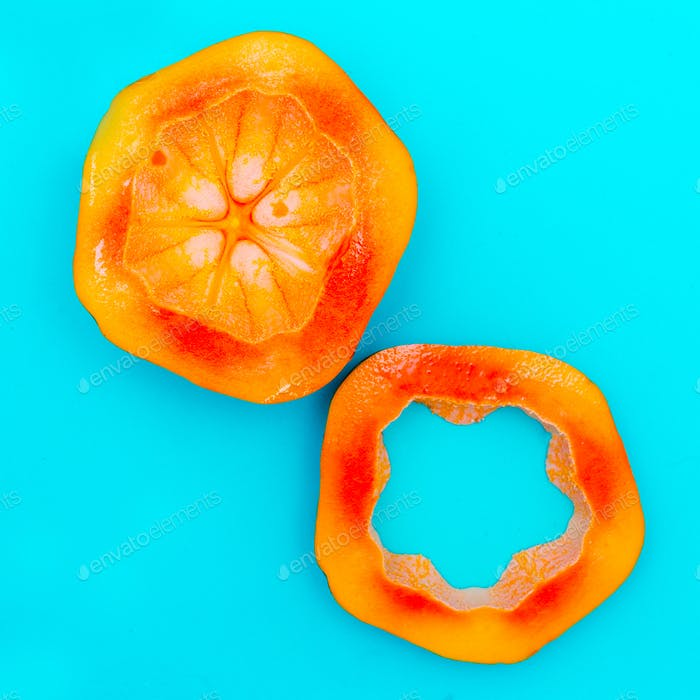 Papaya Love fruit. Fresh tropical ideas. Minimal Creative art
