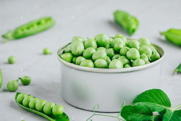 Fresh Raw Green Peas in a Bowl