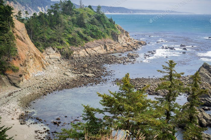 Protected cove near Cape Arago State Park, Coos Bay, Oregon