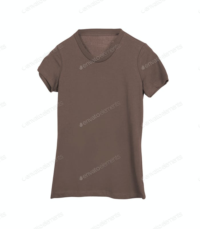 Brown Cotton Shirt isolated on white