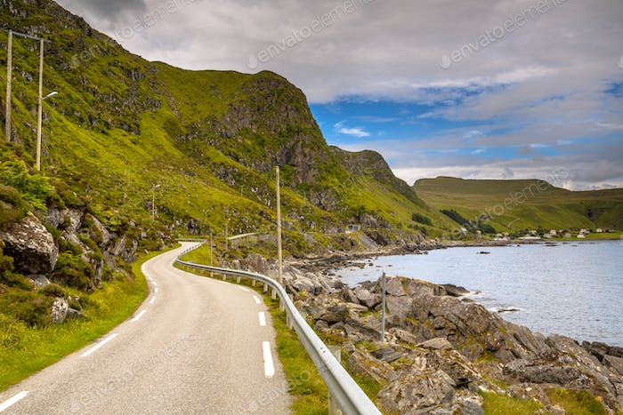 view of road on  the island of Runde