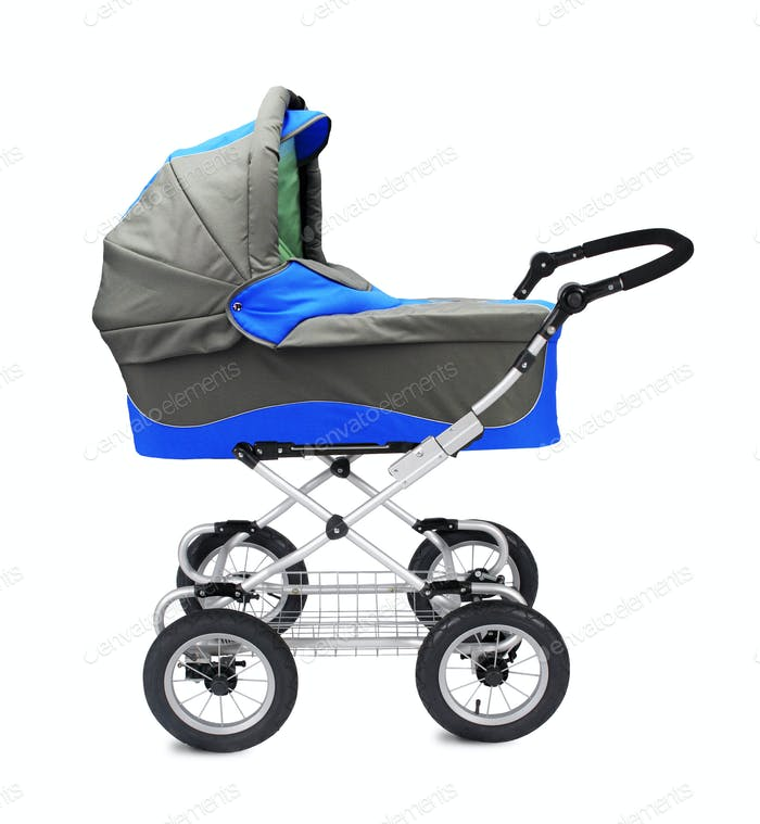 A modern pram isolated