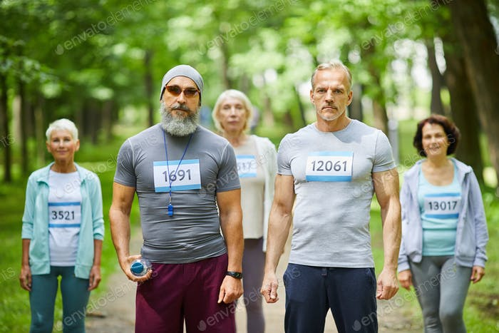 Marathon Runners Portrait
