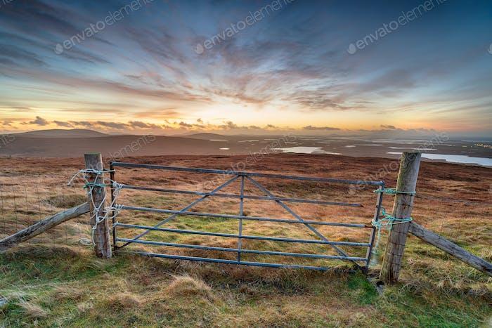 Sunrsie over North Uist