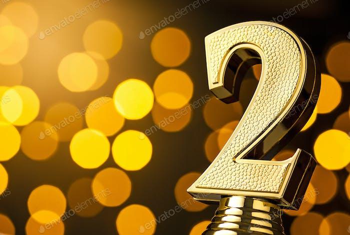 Zweitplatzierte Gold-Award Trophäe