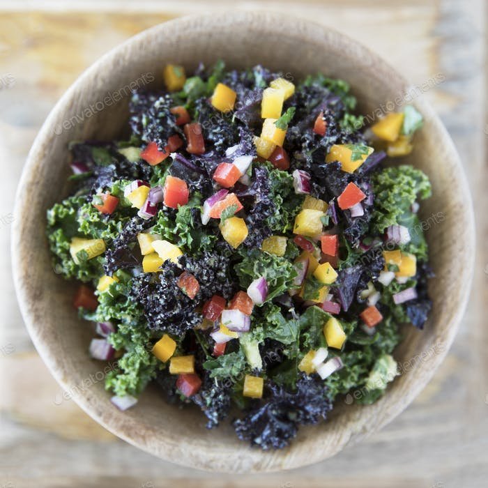 Colorful Kale Salad