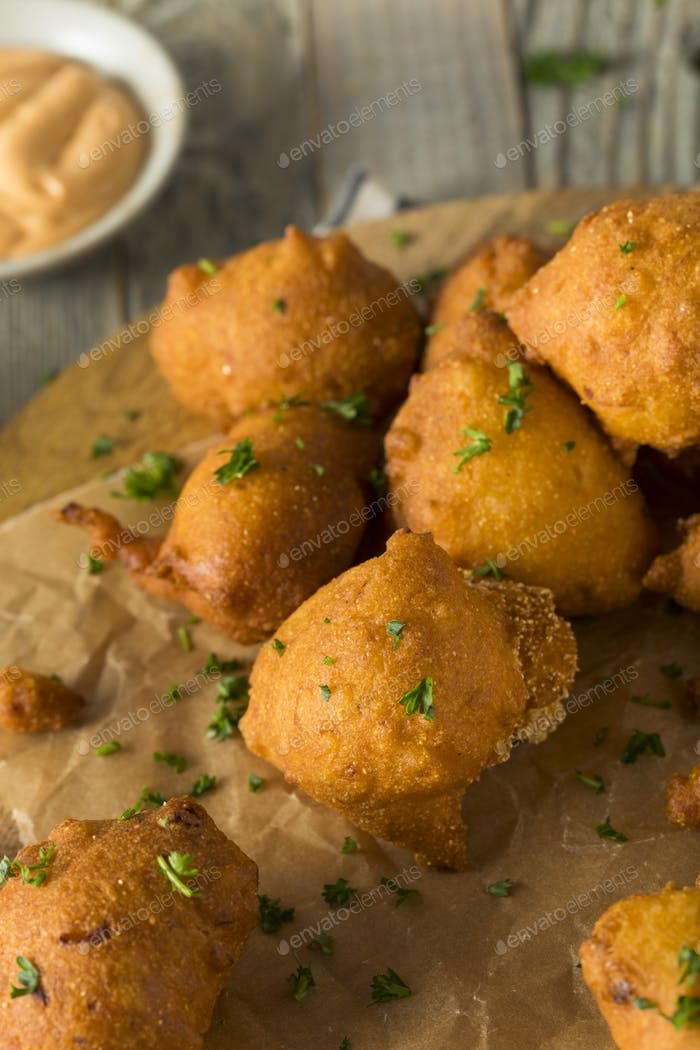 Homemade Deep Fried Hush Puppies