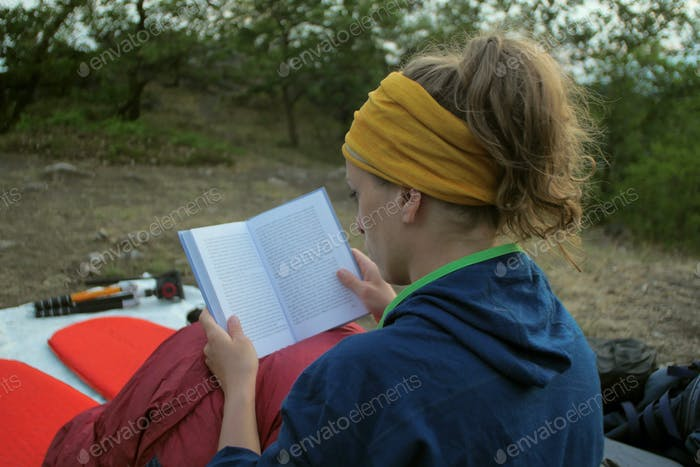 camp book reading