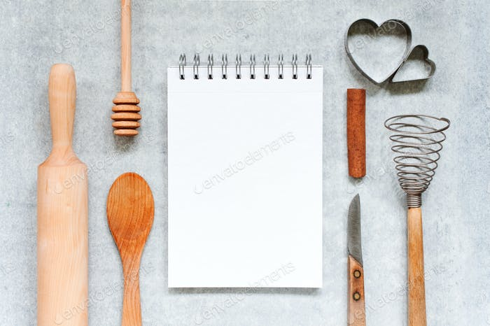 Kitchen Background With Notepad