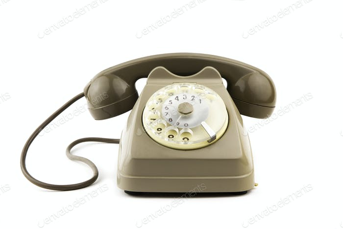 isolated vintage italian telephone