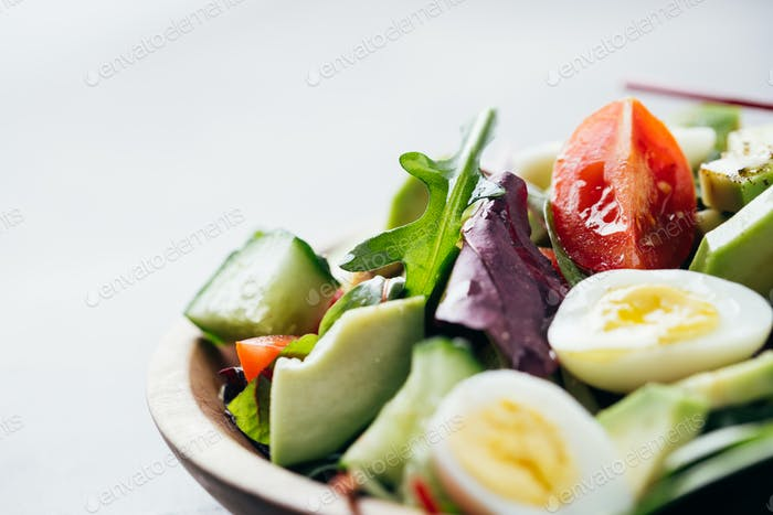 Close Up of Salad, Selective Focus.