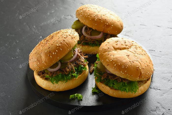 Pulled beef sandwiches