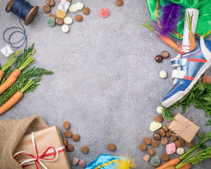 Dutch holiday Sinterklaas background