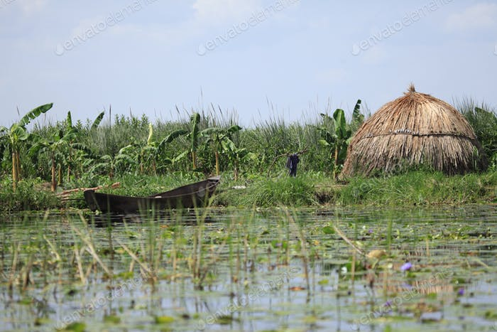 Floating Fishing Village - Uganda, Africa