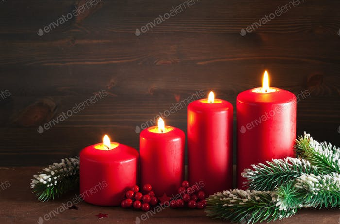 christmas advent candles lantern decoration