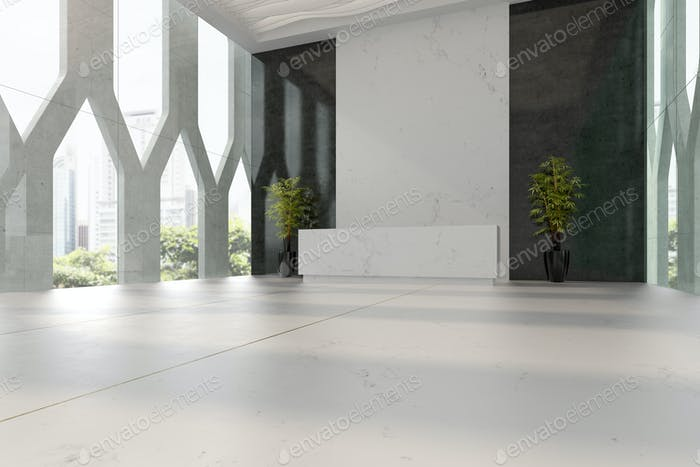 Thumbnail for Interior of hotel and spa reception 3D illustration