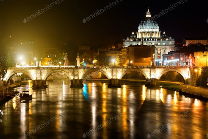 Night view on Vatican