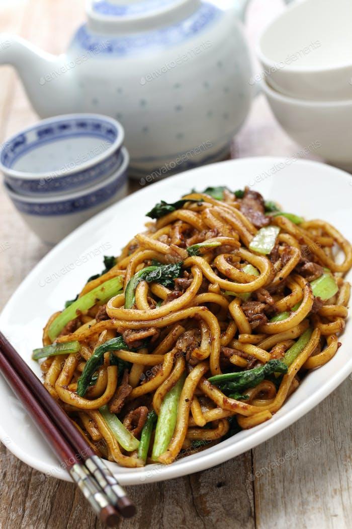 Shanghai fried noodle, Shanghai chow mein