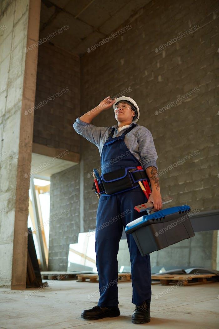 Female Construction Worker Full Length