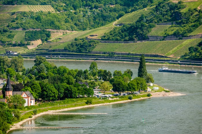 Vineyards at Rhine Valley in Germany