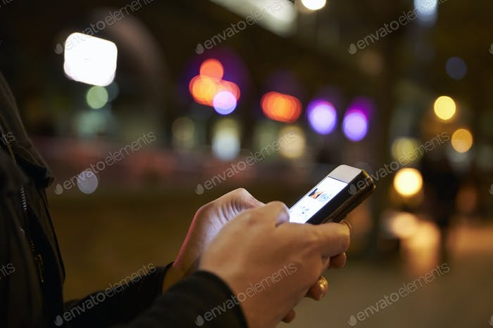 Person Using Mobile Phone