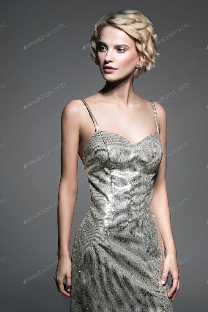 Abendkleid Frau Porträt