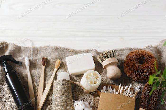 Home essentials, plastic free items