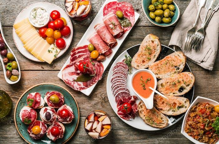 spanish tapas and sangria